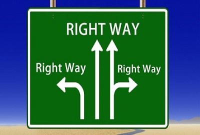Image of road sign stating 'Right Way', noting the way to manage service expectations.