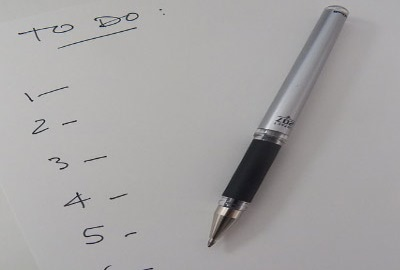 Image of blank to-do list signifying the need for planning I.T. policies.