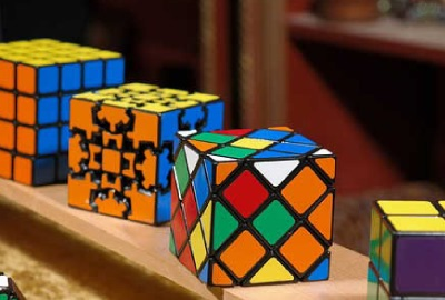Image of solved Rubik's cubes depicting the need for stakeholder analysis.