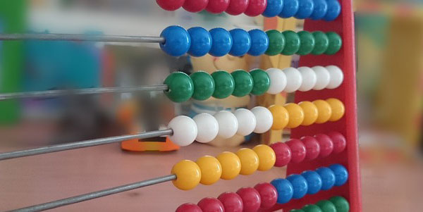 Image of an abacus representing the cost of quality.