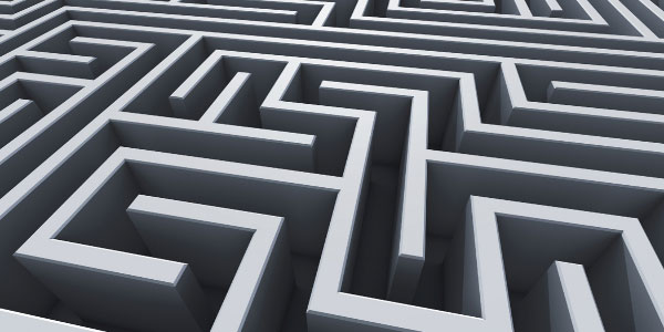 Image of a maze depicting a projects critical path.