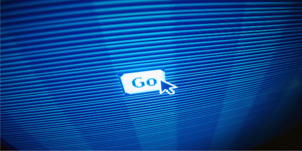 Image of computer monitor with the pointer hovering above the word 'Go' underscoring the need for project team readiness.
