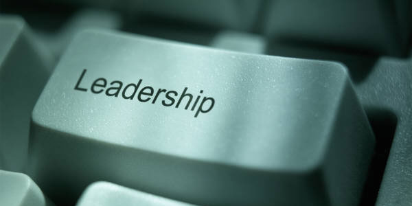 Image of computer key labeled 'leadership' signifying the need to manage crisis perceptions.