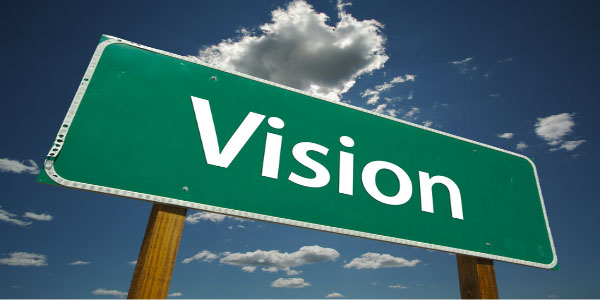 Image of road sign with the word 'vision' signifying the need for value added I.T.