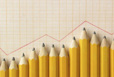 Image of line graph with pencils signifying the results of the rfp process.